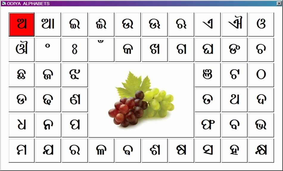 Click To Play Oriya Alphabets